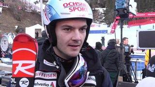 Ski alpin: réaction de Loïc Meillard après sa sortie de piste au slalom de Wengen