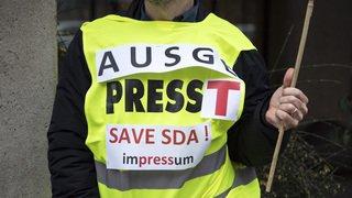 Presse suisse: les journalistes de l'ATS en grève pendant trois heures