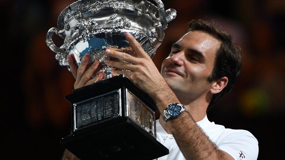 Roger Federer, heureux comme au premier jour.
