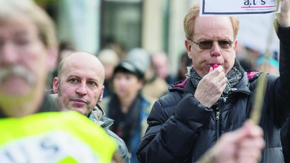 Près de 150 journalistes, sur les 180 employés de l'Agence télégraphique suisse, ont fait grève, hier après-midi, pendant trois heures.
