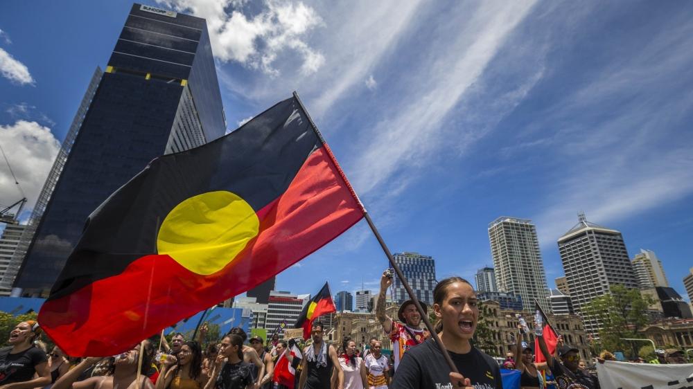 Des manifestants sont descendus hier contre l'«Australian Day» dans les rues de Brisbane, comme dans de nombreuses autres villes australiennes.