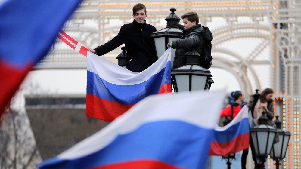 Des Russes en colère.