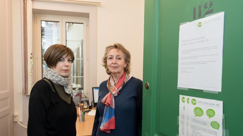 Johanne Kirouac (à droite) et Véronique Eggimann ne pourront pas poursuivre leur travail.