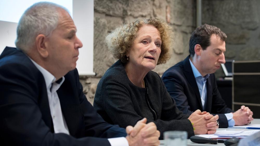 Felix Wolffers (à gauche), Therese Frösch (coprésidents de la Conférence suisse des institutions d'action sociale) et Nicolas Galladé (président de l'initiative des villes pour la politique sociale) ont présenté leur conviction hier.