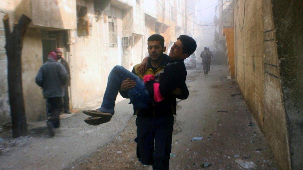 Malgré la trêve votée par l'ONU, les raids se poursuivaient sur la Ghouta, hier.
