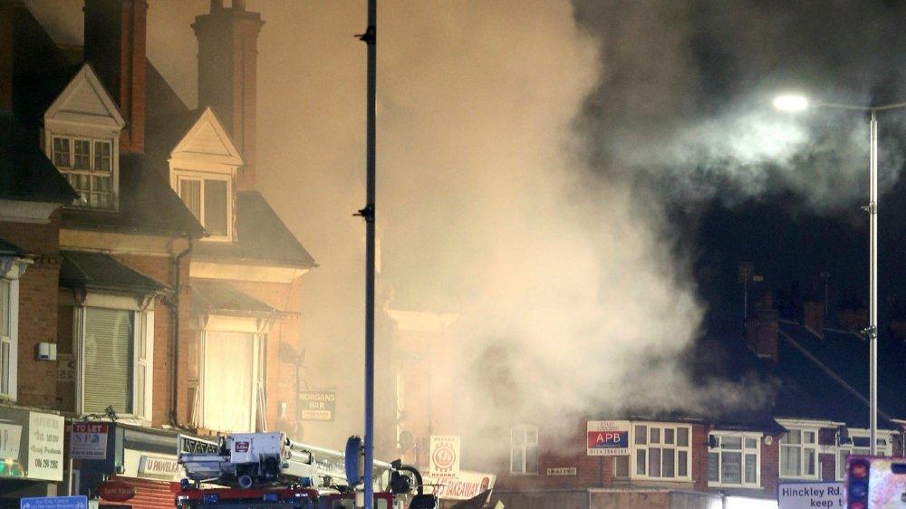 L'immeuble a été pulvérisé par une explosion dimanche soir.