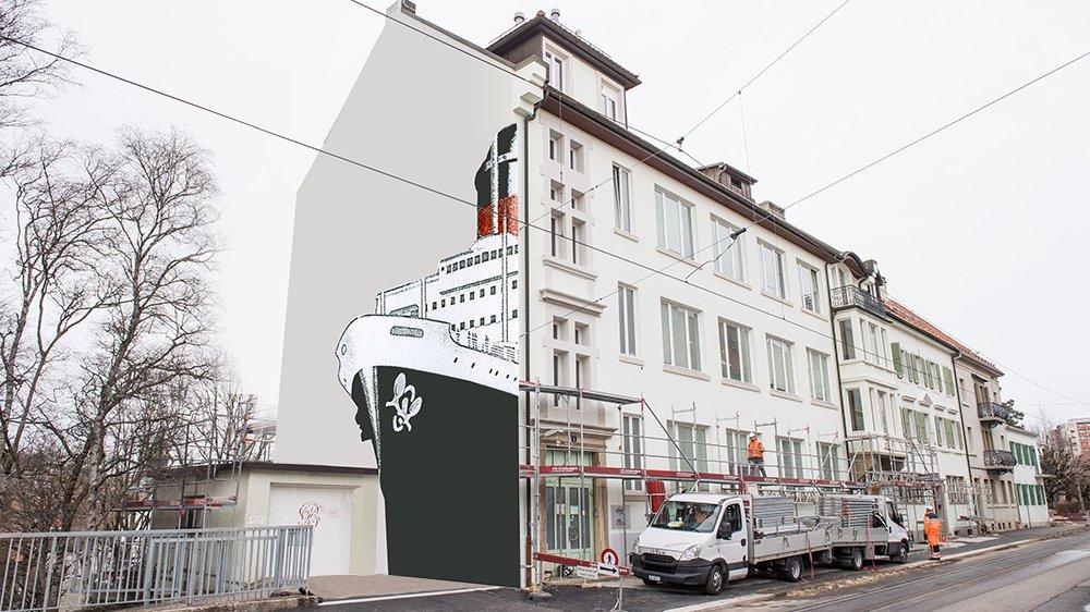 Une nouvelle oeuvre de Carolus ornera l'immeuble de la rue du Crêt.