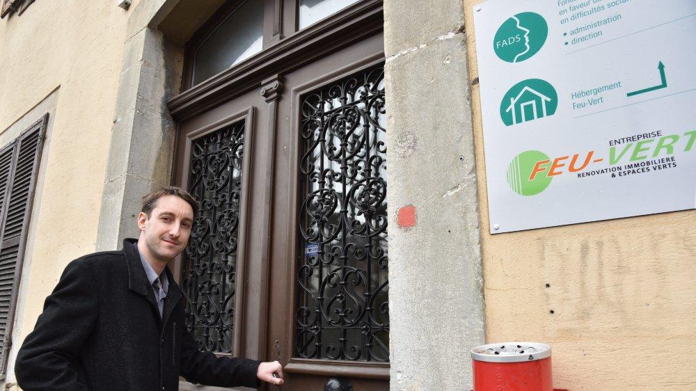 Robin Nicolet est actuellement hébergé au foyer Feu-Vert, à La Chaux-de-Fonds, après une année où il a vécu l'enfer.