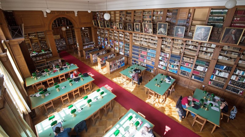 La Bibliotheque publique et universitaire de Neuchâtel.