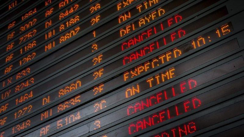 La moitié des vols long-courriers d'Air France ont été annulés.