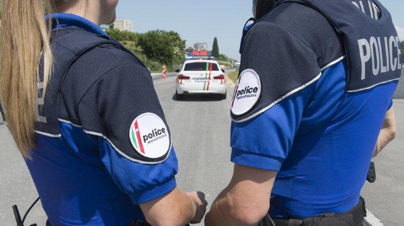 L'incident s'est produit sur la route des Envers alors que la patrouille venait de procéder à un contrôle de personne.