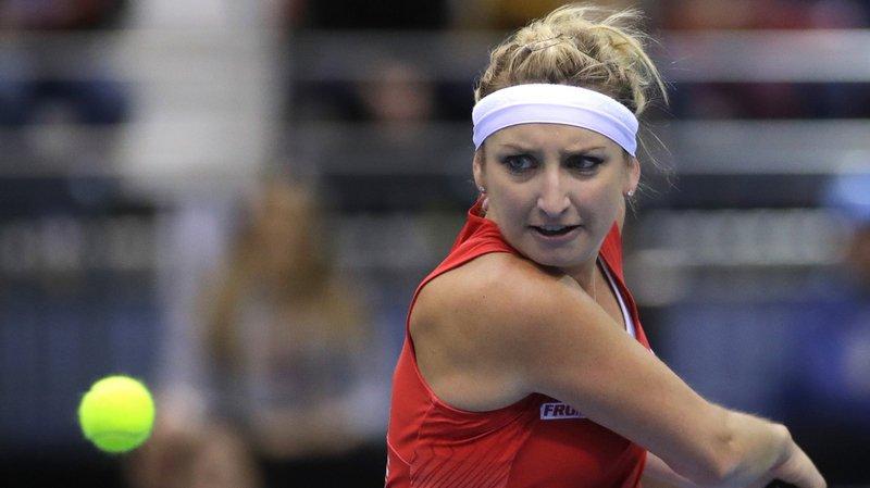 Absente des courts depuis sa défaite au troisième tour à Wimbledon le 8 juillet, la Vaudoise n'a pas signé un retour gagnant.