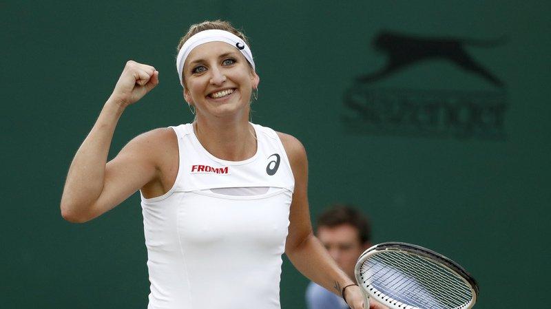 Timea Bacsinszky en finale du double féminin à St.-Pétersbourg