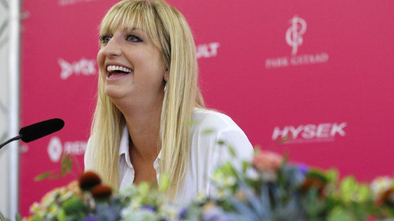 """""""Enfin"""" est le premier mot énoncé par Timea Bacsinszky durant la conférence de presse qui s'est déroulée à Gstaad."""