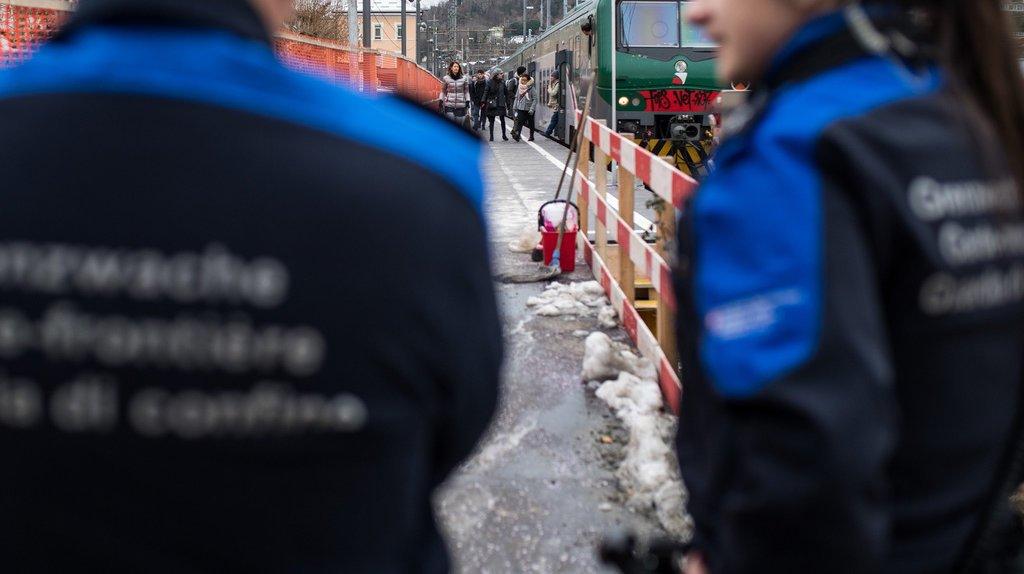 Crise migratoire: beaucoup moins de migrants aux frontières suisses en 2017