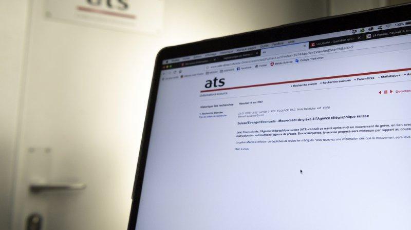 Médias: les journalistes de l'ATS poursuivront leur grève mercredi