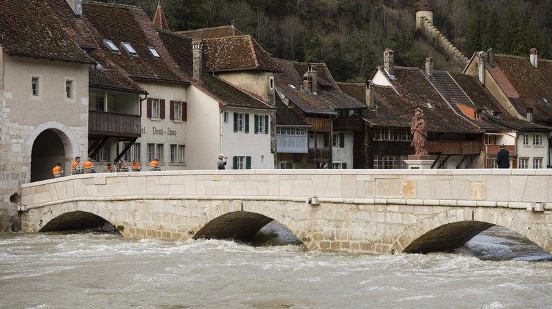 Le Doubs a amorcé sa décrue à St-Ursanne