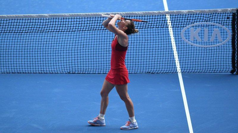 Après avoir sauvé deux balles de match face à Angelique Kerber, la Roumaine Simona Halep obtient son ticket pour la finale.