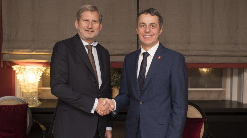 WEF 2018: Ignazio Cassis a rencontré son nouvel interlocuteur européen