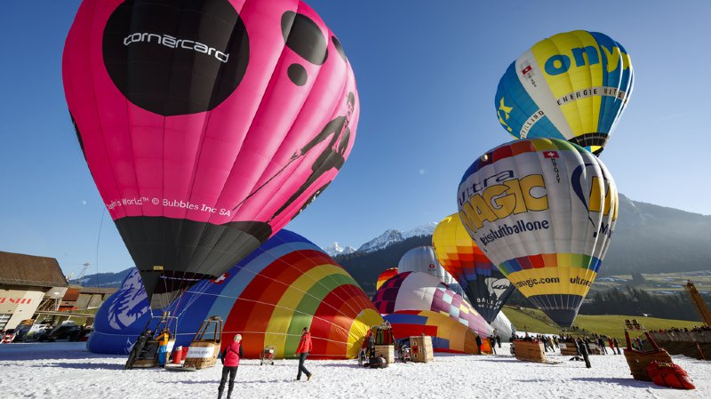 Festival international de ballons: des nacelles ont décoré le ciel de Château d'Oex