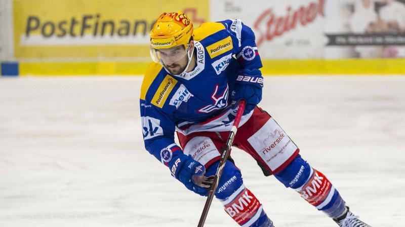 Hockey: Vincent Praplan, l'attaquant valaisan de Kloten, marque le but de la saison