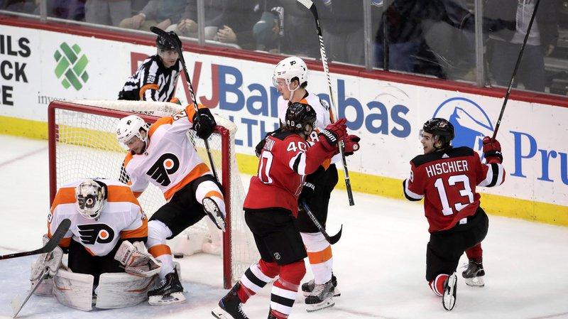 Hockey sur glace: Nico Hischier offre la victoire aux Devils face à Philadelphia