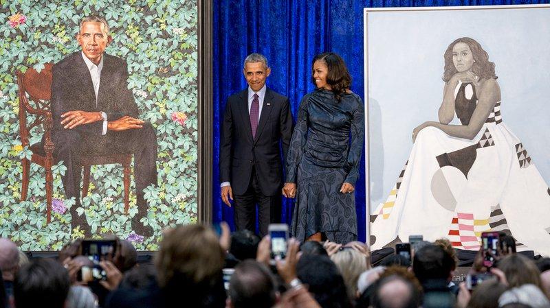 États-Unis: les Obama dévoilent leurs portraits pour la National Portrait Gallery de Washington