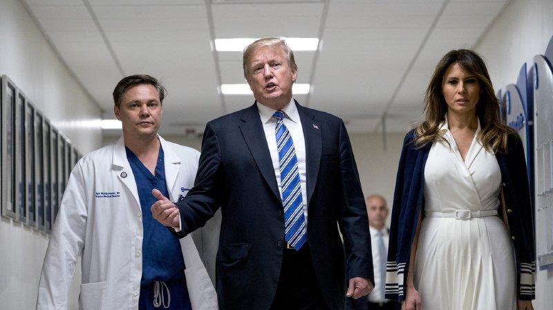 Fusillade en Floride: Trump rencontre les blessés de la tuerie de Parkland