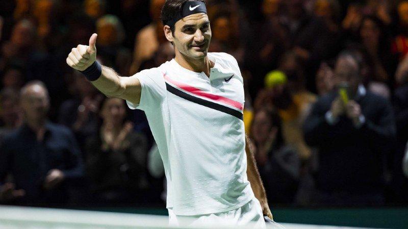 Tennis: Federer bat  Dimitrov à Rotterdam et remporte son 97e titre