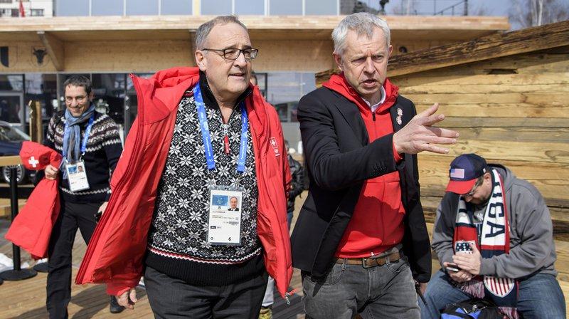 JO 2018: présent à PyeongChang, Guy Parmelin fier des sportifs suisses