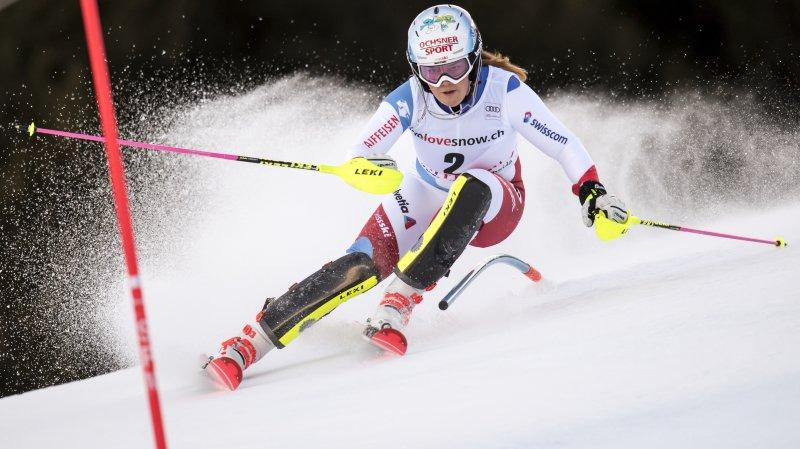 Ski alpin: meilleur résultat de carrière en slalom pour Mélanie Meillard