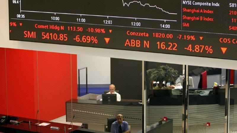 Finance: la Bourse suisse n'échappe pas à la chute des marchés boursiers