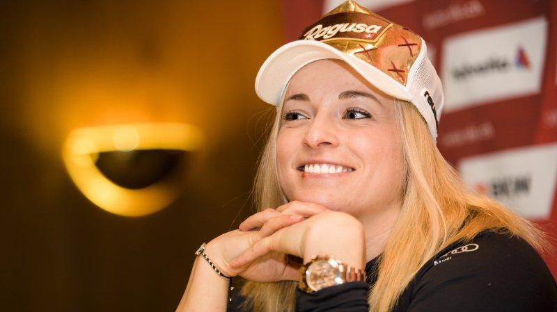 """Ski alpin: Lara Gut se livre à la presse à Crans-Montana: """"Je n'ai pas le temps de penser à mes JO"""""""
