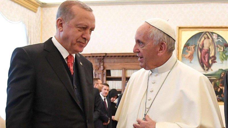 Le pape a reçu Erdogan
