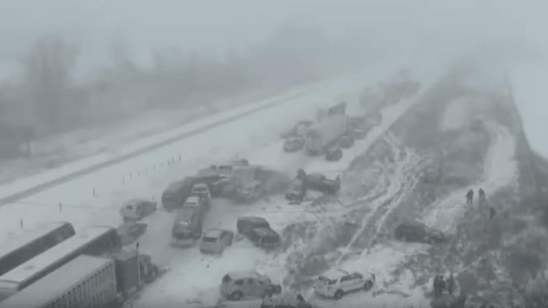 USA: un carambolage géant de plus de 70 véhicules fait un mort en Iowa