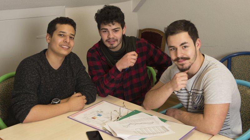 Le nouveau comité: Elyes Hammami, président, Sébastien Sancho et Joachim Mauron, membres (de g. à dr.).