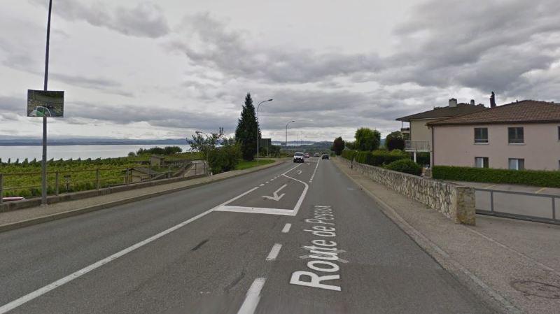 L'homme a perdu la maîtrise de son véhicule sur la route de Peseux, à Auvernier.