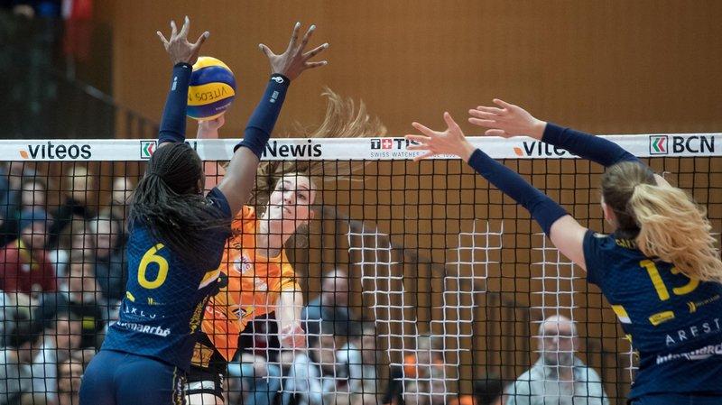 A l'image de Martina Halter, les Neuchâteloises n'ont pas pu faire opposition à Nantes au filet.