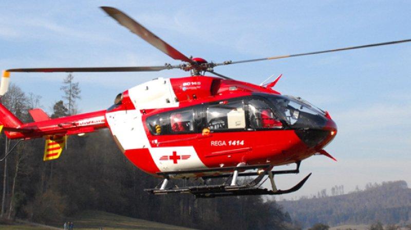 La victime avait été héliportée au CHUV.