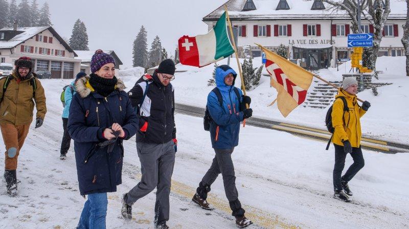 Une marche du 1er Mars sous la neige