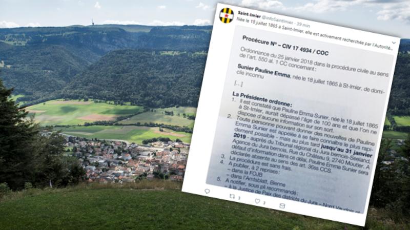 La commune de Saint-Imier a relayé l'appel sur Twitter.