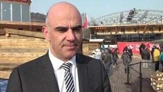 Alain Berset en visite aux JO de Pyeongchang