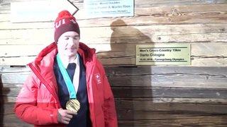 JO 2018: une grande fête pour célébrer Dario Cologna et sa médaille d'or