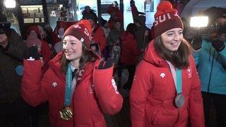 JO 2018: Mathilde Gremaud et Sarah Höfflin fêtent leurs médailles