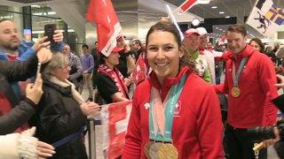 JO 2018: Wendy Holdener et Dario Cologna sont de retour en Suisse