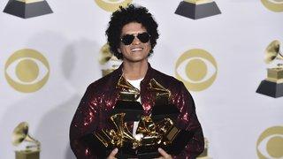 Bruno Mars triomphe aux Grammy Awards avec ''24K Magic''