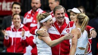 Tennis: la Suisse affrontera la Roumanie en barrage de la Fed Cup