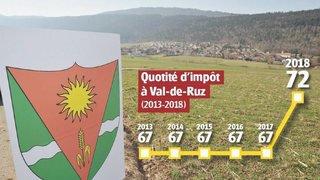 Hausse d'impôts à Val-de-Ruz: les citoyens iront aux urnes le 10 juin