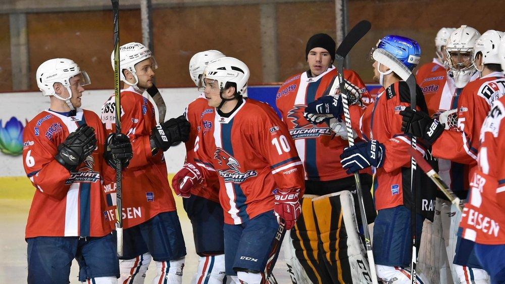 Les joueurs du HC Université Neuchâtel ont terminé le tour de relégation sans se laisser aller.