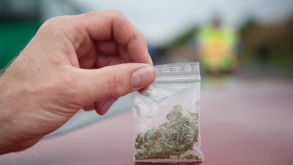 Le bocal emporté par les voleurs était rempli de sachets de cannabis prêts pour la vente.